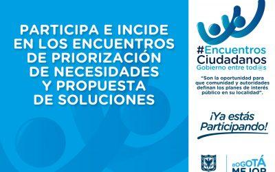 Participe en la construcción del Plan de Desarrollo Local de Usaquén
